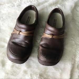 Merrell Brown Leather Bracken Slip On Mules